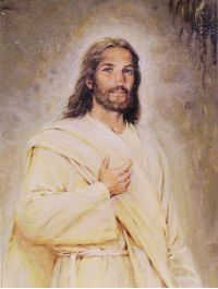 """Resurrected Christ"" - painting by Walter Rane"
