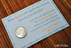Little LDS Ideas: {Personal Progress} Choice & Accountability experience #3: Choices Activity