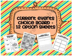Go beyond the typical paragraph summary for current events reports! Allow your students 12 different choices to help them practice key reading skil. Study Skills, Reading Skills, Create A Comic, Read To Self, 2nd Grade Ela, Concept Web, Student Teaching, Teaching Ideas, Teaching Tools