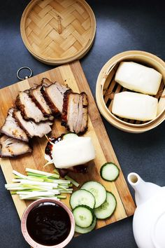 // copycat version of Chef David Chang's well-loved pork buns from Momofuku // Noodle Bar, Pork Buns, Steamed Buns, Nyc Restaurants, Pork Belly, Restaurant Recipes, Asian Recipes, Asian Foods, Chinese Recipes