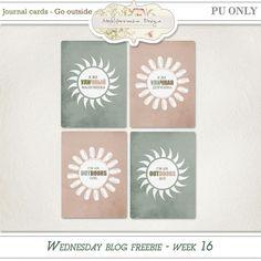 FREE Go Outside Journal Crads by Mediterranka design: WEDNESDAY BLOG FREEBIE - WEEK 16