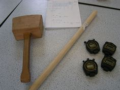 How to measure the speed of sound with two lumps of wood ... style