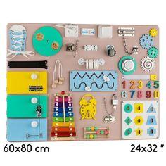 Busy Board Learning Toys Activity Board Educational Toys Baby Sensory Board Montessori Toy Edu Baby Sensory Board, Toddler Activity Board, Sensory Boards, Activity Toys, Montessori Toddler, Montessori Toys, Toddler Toys, Baby Toys, Diy Busy Board