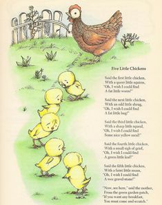 Five Little Chickens The Golden Book Of Poems Illustrated by Joan Walsh Anglund English Stories For Kids, English Story, Kids English, English Reading, Nursery Rhymes Poems, Rhymes Songs, Nursery Songs, Joan Walsh, Poetry For Kids