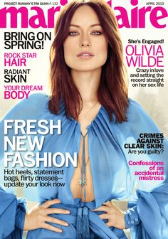 Stunning Olivia Wilde on the cover of Marie Claire | Pictures & details