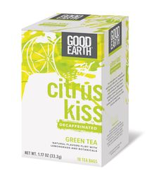 Good Earth Teas Citrus Kiss Decaf Green Lemongrass Tea (1x18 CT)
