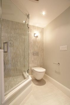 The aluminum frames around glass shower doors are a magnet for gunk. Going frameless on your glass gives you a simple sheet to squeegee clean.