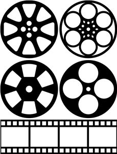 I think I'm in love with this shape from the Silhouette Design Store! I think I'm in love with this shape from the Silhouette Design Store! Deco Cinema, Cinema Party, Movie Party, Movie Reels, Film Reels, Movie Themes, Party Themes, Movie Theme Decorations, Silhouette Design