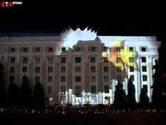 Increíble proyección en 3D en un edificio - YouTube