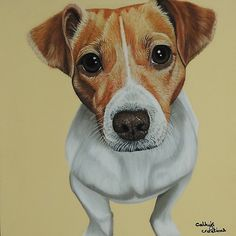 'Sky the Jack Russell Terrier' by cathyscreations Jack Russell Dogs, Jack Russell Terrier, Animal Paintings, Animal Drawings, Watercolor Animals, Dog Portraits, Dog Art, Cute Cat Memes, Animals And Pets