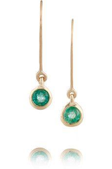 SCOSHA 10-karat gold emerald earrings | NET-A-PORTER