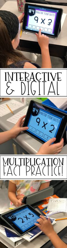 Engaging and easy multiplication fact practice! Just upload onto your device and students can use it to practice independently or in center/station rotations!