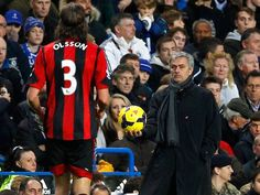Chelsea manager Jose Mourinho is said to have sparked a 20-man confrontation after calling Jonas Olsson of West Brom. a 'Mickey Mouse defender'.