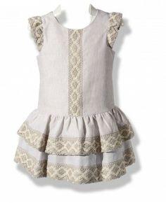 Drop waisted linen dress