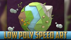 Low Poly Planet Earth Speed Art | Cinema 4D