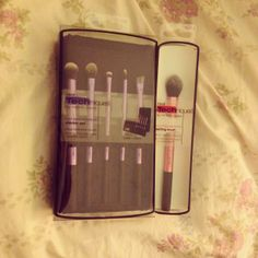Real Techniques brushes. I got an excellent deal on these. Buy one get one half off at Kohls! I don't know how long this sale will last, so get on the bandwagon before its gone.