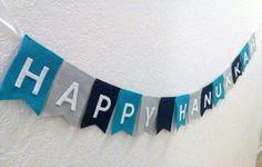 Happy Hanukkah Pennant Bunting Banner Flag Felt Garland by heartFeltbyA on Etsy https://www.etsy.com/listing/206834341/happy-hanukkah-pennant-bunting-banner