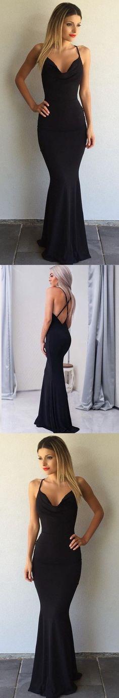 Simple Black Prom Dresses Crisscross Back Sexy Mermaid Evening Gowns M1809#prom #promdress #promdresses #longpromdress #2018newfashion #newstyle #promgown #promgowns #formaldress #eveningdress #eveninggown #2019newpromdress #partydress #meetbeauty #mermaid #black #crisscrossback #simple