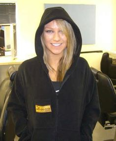 CHLOE MADELEY - Dancing on Ice  Black Polar Fleece, Hood, Front Pockets, I-Pocket, The-All-in-One-Company Logo