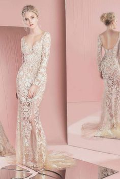 Make a sexy statement in this stunning lace gown. Dress: Zuhair Murad SS 16 Bridal Collection