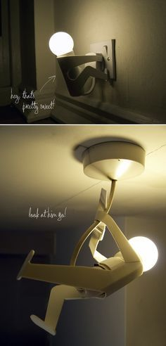 This cute little lamp is both funny and practical