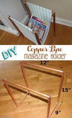 Made a magazine holder from copper pipes! http://ift.tt/2eOofgf . how to make your own #crafts follow @cutephonecases