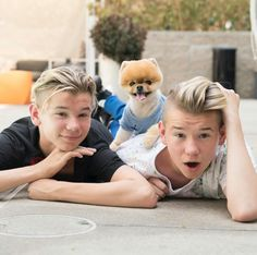 Marcus and Martinus + Jiffpom Marcus Y Martinus, Most Instagram Followers, Jiff Pom, Cute 13 Year Old Boys, 17 Kpop, Dream Boyfriend, Cutest Dog Ever, Love U Forever, Guinness World