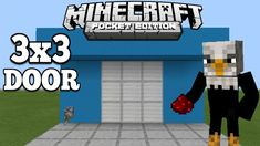Minecraft PE - How To Make Simple 3x3 Door - Redstone Tutorial https://cstu.io/c0fe81