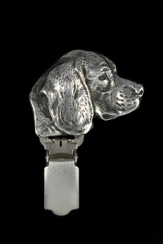 ArtDog Limited Edition Ring Clip//Number Holder Cavalier Dog clipring