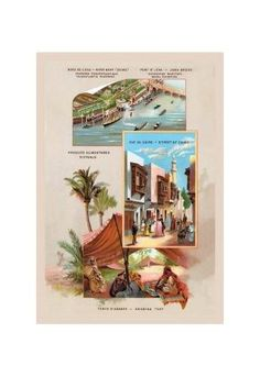 'Assorted Scenes of The Paris Exhibition, 1889' Print (Black Framed Poster Print 20x30)