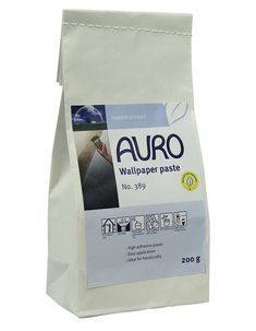 Natural wall paper paste, Auro 389 is an eco wallpaper paste that is non toxic, safe and easy to use. A great natural alternative for your eco aware home