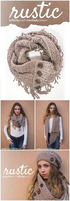 Easy Crochet patterns is a very versatile project and can be so much fun.Fringe Infinity Crochet Scarf