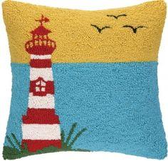 Lighthouse W/Birds Hook Pillow