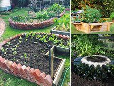 Complete Guide to Container Gardening – Homestead Backyard – Diy Garden İdeas Diy Planters, Garden Planters, Garden Edging, Lawn And Garden, Brick Garden, Unique Gardens, Garden Boxes, Garden Spaces, Raised Garden Beds
