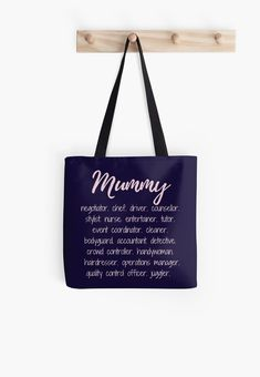 'Mummy - more than a full time job' Tote Bag by MummyOfFour