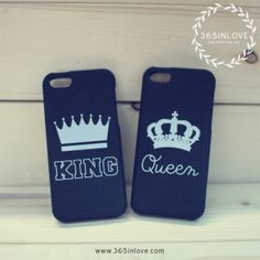 King and Queen Couple Matching Phone Cases Gifts for Anniversary