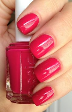 Essie Watermelon // ugh i always mean to buy this colour :'( this is a sign i should