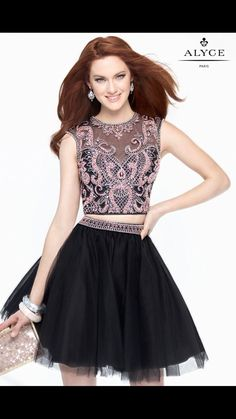 Awesome Awesome Alyce Paris Beaded Two Piece Homecoming Dress Style #4446 Black/Pink 2018 Check more at http://24myshop.ga/fashion/awesome-alyce-paris-beaded-two-piece-homecoming-dress-style-4446-blackpink-2018/