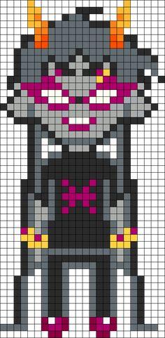 Meenah Peixes Homestuck Openbound Sprite Perler Bead Pattern / Bead Sprite