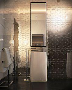 Amazing Mirror Bathroom Tiles For Bathroom Looks Luxurious 40