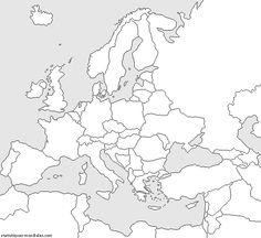 carte europe a imprimer - Recherche Google