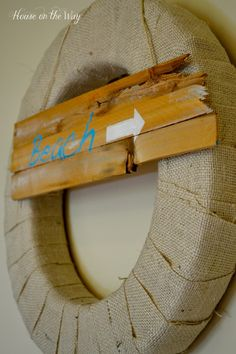 Summer Wreath with #Burlap! #DIY
