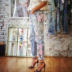 PRESERVE.us - Rialto Cherry Blossoms Boyfriend Jeans - Shop