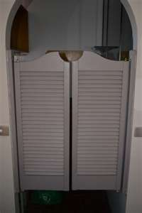 Love Saloon Doors For Kitchen Paint Any Color Maybe To The Mud Room Cafe Shutters