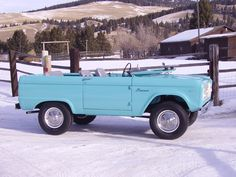 1966 Ford Bronco, now that is cool.