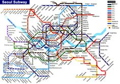 Seoul Subway Map. This will be very useful.