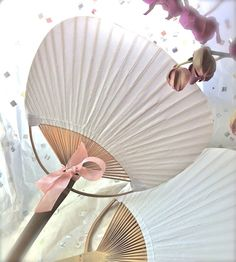 Bamboo and Paper Paddle Style Fan by BonFortune on Etsy, $2.00