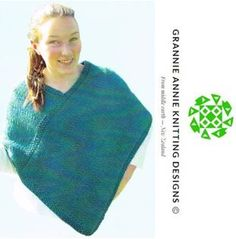 Poncho knitting pattern