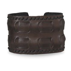 ON SALE $16.80 ! Adjustable 2 Inch Wide Brown Leather Cuff Bracelet, Unisex Styling , Sale ends Sunday December 7th, 2014.