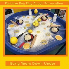 We read Eric Carle's book, 'Pancakes Pancakes'. Eyfs Activities, Nursery Activities, Preschool Activities, Pancake Day Crafts For Toddlers, Toddler Crafts, Shrove Tuesday Activities, Tuff Spot, Waffle Bar, Tuff Tray